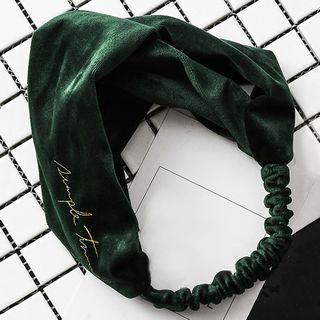 Pagala - 刺繡印字絲絨洗臉頭帶