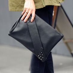 ETONWEAG - Studded Faux Leather Clutch