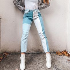 Puffie - Paneled Skinny Jeans