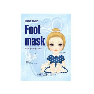 The ORCHID Skin - Orchid Flower Foot Mask 1pair
