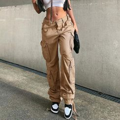 Honet - Plain Cargo Jeans