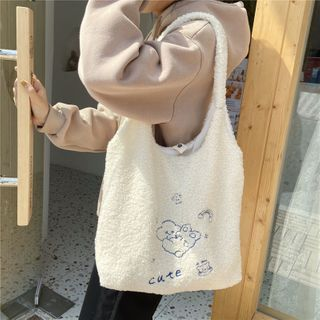 Eastin - Rabbit Embroidered Tote Bag