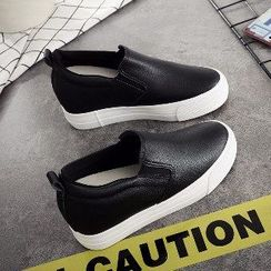 Solejoy(ソールジョイ) - Hidden-Heel Platform Slip-On Sneakers