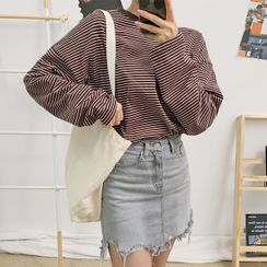 HOTPING - Loose-Fit Stripe T-Shirt