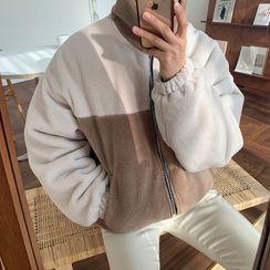 MRCYC - Two-Tone Fleece Stand-Collar Jacket