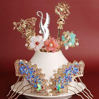 Kanzashi - 復古珍珠合金髮簪