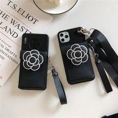 Xianto - Genuine Leather Flower Pouch Phone Case - iPhone 11 Pro Max / 11 Pro / 11 / SE / XS Max / XS / XR / X / SE 2 / 8 / 8 Plus / 7 / 7 Plus
