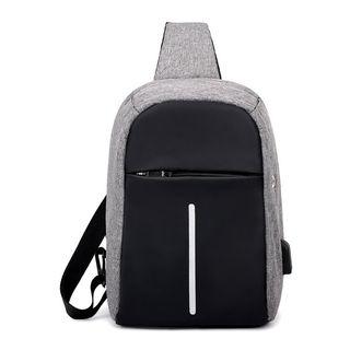 Golden Kelly - Sling Bag with USB Port
