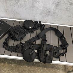 Mulgam(ムルガム) - Buckled Canvas Belt Bag