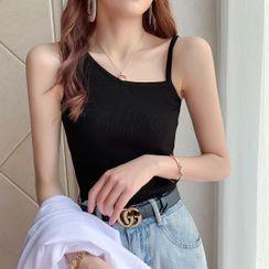 Shiodome - Asymmetric Sleeveless Knit Top