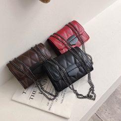 Koniga - Chain Strap Flap Crossbody Bag