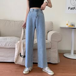 Jemonne - Frayed Wide Leg Jeans