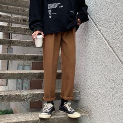 Chuoku - Straight-Fit Dress Pants