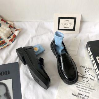 Stevvi - Plain Faux Leather Loafers