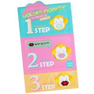 HOLIKA HOLIKA - Golden Monkey Glamour Lip 3-Step Kit