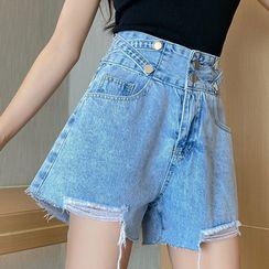 Jeans Kingdom - 宽腿牛仔短裤