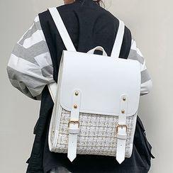 della renna - 粗花呢拼接方形背包