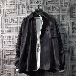 Puerta - 長袖條紋襯衫