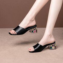 锦洋鞋业 - 粗跟凉拖