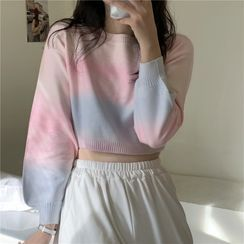LINSI - Cropped Gradient Sweater