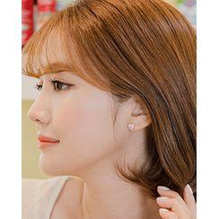 Miss21 Korea - Heart Motif Earring Set (14 PCS)
