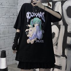 Koiyua - Elbow-Sleeve Graphic Tee