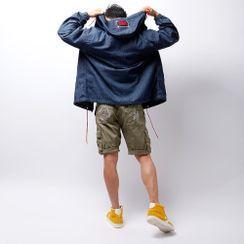 Green Banana - Hooded Zipped Denim Jacket