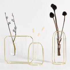 miss house - Metal & Glass Vase