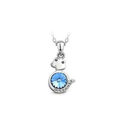BELEC - Chinese Zodiac Zodiac Pendant with Blue Austrian Element Crystal and Necklace