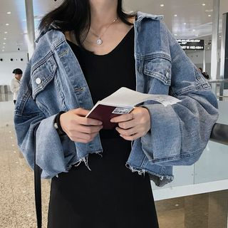 With You - Washed Cropped Denim Jacket