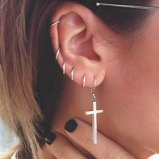 Kokyu - Boucles d'oreilles mini anneau en argent 925