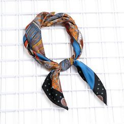 MAKA - Patterned Satin Neck Scarf