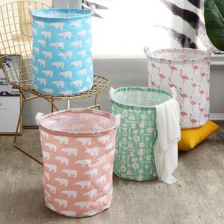 Million Sun - Animal Print Fabric Laundry Basket