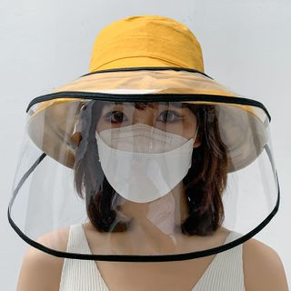 Kalamate - Wide Brim Bucket Hat with Face Shield