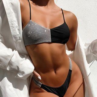 Frutto - Set: Glitter Bikini Top + Bottom