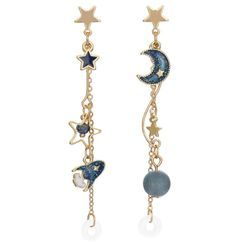 Phooka - Alloy Planet & Star Chained Earring with AirPods Holder