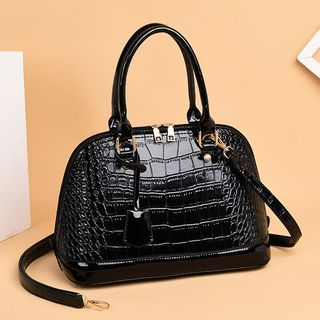 Selinda - Croc Grain Handbag