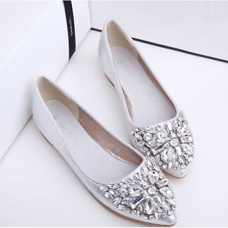 MANMANNI - Jeweled Pointy Flats