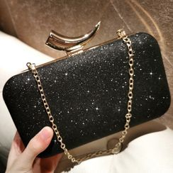 LOLIBOX(ロリボックス) - Glitter Evening Clutch With Chain Strap