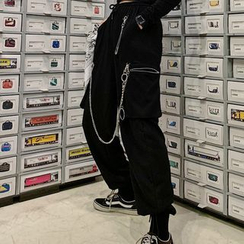 MELLO - Chain-Detailed Harem Pants