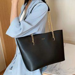 Emvee - Chain Strap Shoulder Tote Bag