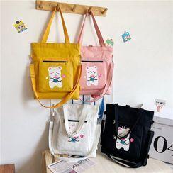 Calomes - Bear Print Crossbody Bag