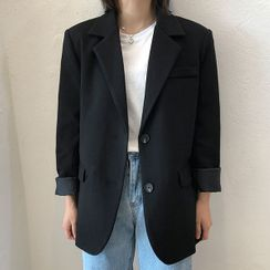 icecream12 - Notched-Lapel Single-Breasted Blazer