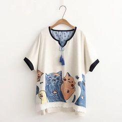 PANDAGO - Camiseta estampada de manga corta