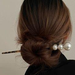 Foreflow - Faux Pearl Hair Stick