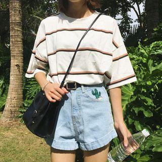 Whoosh - Boxy Striped T-Shirt