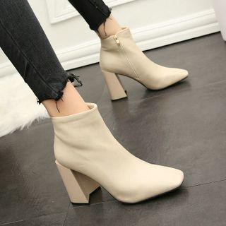 NinetoZero - Block Heel Ankle Boots