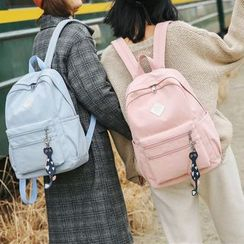 Szeta - Cat Dangle Canvas Backpack