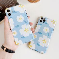 Sugar&Spice - Floral Print Phone Case - iPhone 11 Pro Max / 11 Pro / 11 / SE / XS Max / XS / XR / X / 8 / 8 Plus / 7 / 7 Plus / 6s / 6s Plus