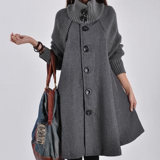 Glorieux - Single-Breasted A-Line Coat Dress